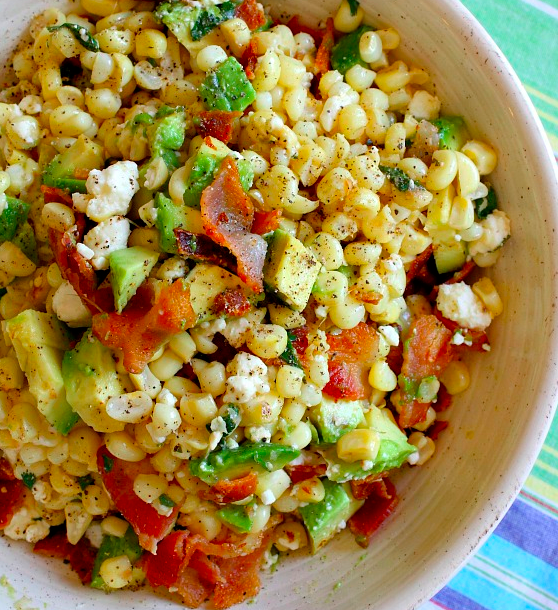 Avocado-Corn-&-Bacon-Salad