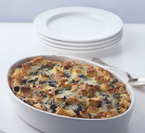 Spinach-and-cheese-strata