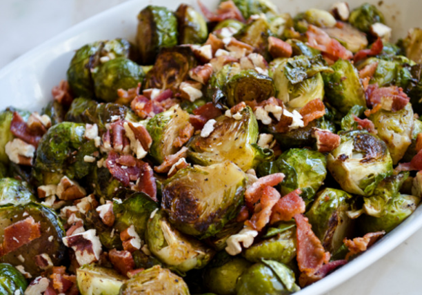 Thamksgiving-Brussels-sprouts-with-bacons-and-pecans