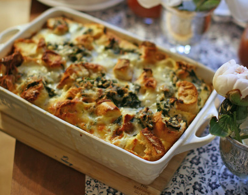 Cheese-and-Spinach-Strata