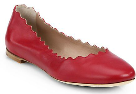 Red-chloe-scalloped-flat