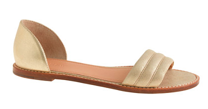Metallic-suede-Hayes-sandal-from-J-Crew